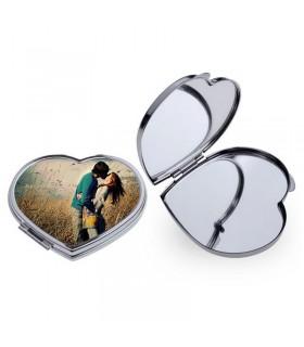 Espejo forma de corazón personalizado
