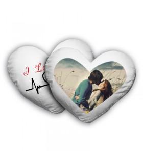 Cojín personalizado con forma de corazón