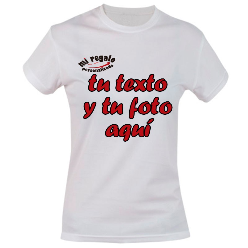 Camisetas Personalizadas para Mujeres - Regalos Personalizados 06a28dd86afa6